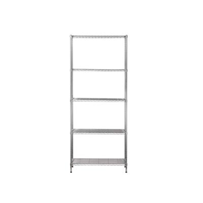 5-Tier Multi Utility Shelf L75 cm - Chrome - Image 2