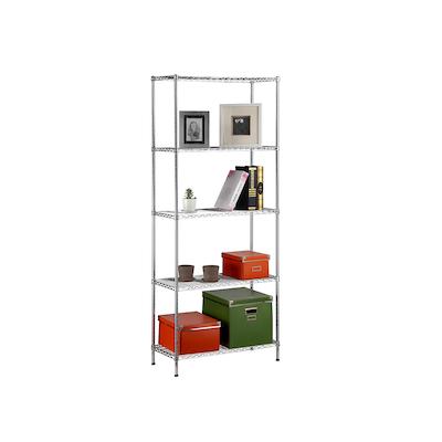 5-Tier Multi Utility Shelf L75 cm - Chrome - Image 1