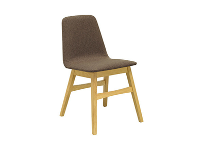 Avice Fabric Seat Dining Chair - Natural, Chestnut - Image 1