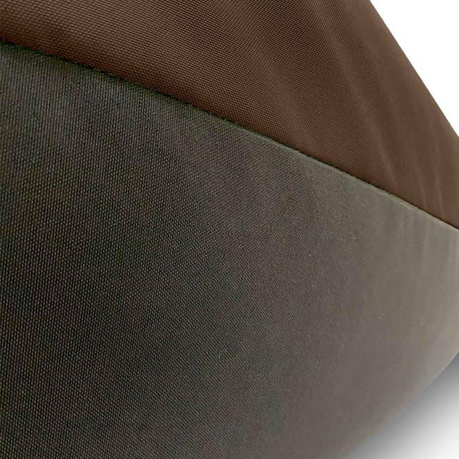 Splash Waterproof Outdoor Triangle Bean Bag - Brown - 3