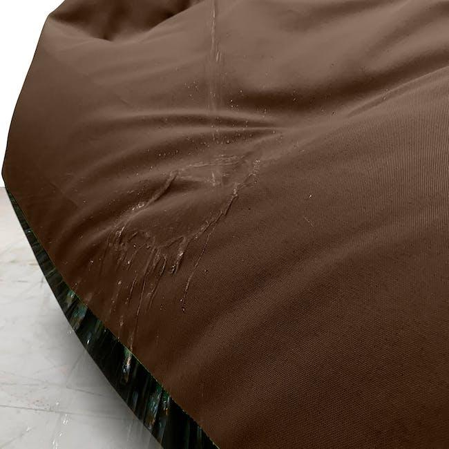 Splash Waterproof Outdoor Triangle Bean Bag - Brown - 1