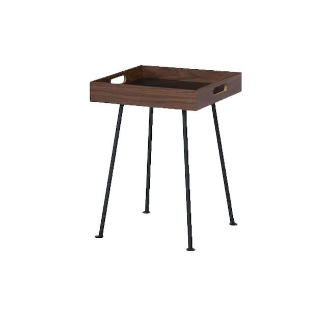 Gable Side Table - Walnut - 0