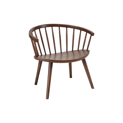 Molly Lounge Chair - Walnut - Image 1