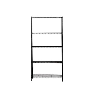 5-Tier Multi Utility Shelf L90 cm - Black - Image 2