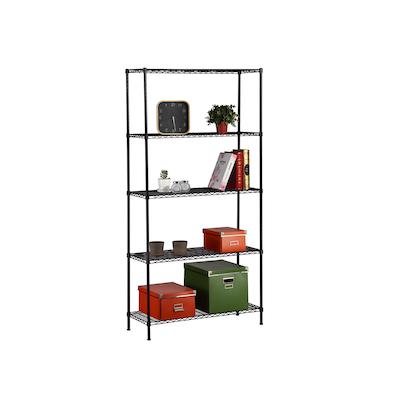 5-Tier Multi Utility Shelf L90 cm - Black - Image 1