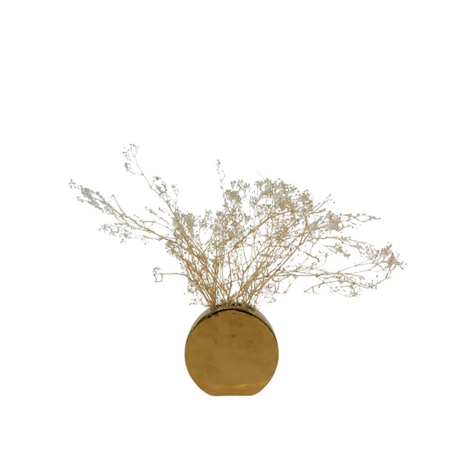 Mellow Gold Vases - Round Vase - 0