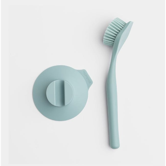 Dish Brush with Silicon Cup holder - Mint - 2