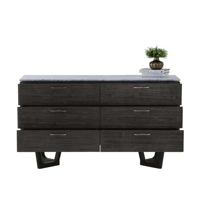 Carson Marble 6 Drawer Chest 1.4m - 1