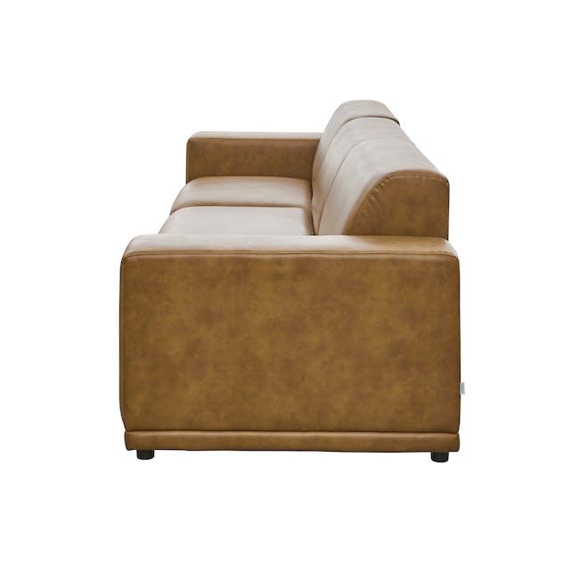 Milan 4 Seater Sofa - Tan (Faux Leather) - 3