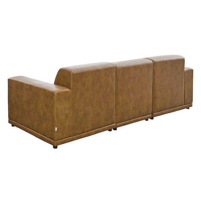 Milan 4 Seater Sofa - Tan (Faux Leather) - 4