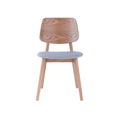 Riley Dining Chair - Oak, Light Grey - Image 2