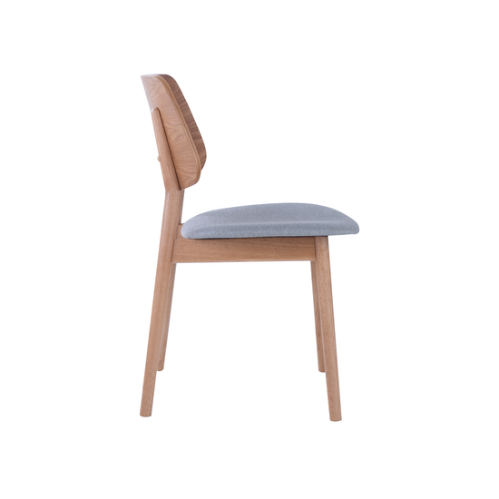 Dining Chairs by HipVan - Riley Dining Chair- Oak, Light Grey