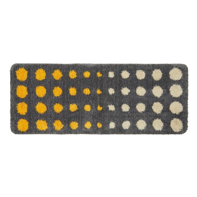 Retro Dots  Runner Rug - Grey - 0