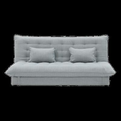 Tessa 3 Seater Storage Sofa Bed - Silver - Image 1