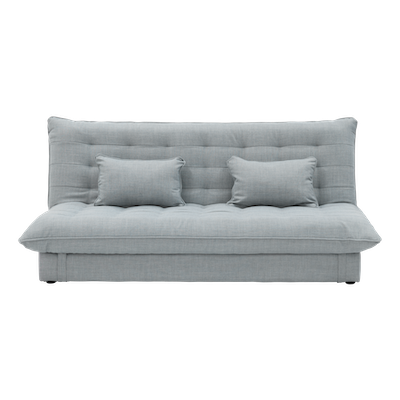 Tessa 3 Seater Storage Sofa Bed - Silver - Image 1