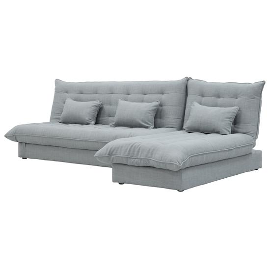 Tessa 3 Seater Storage Sofa Bed Silver