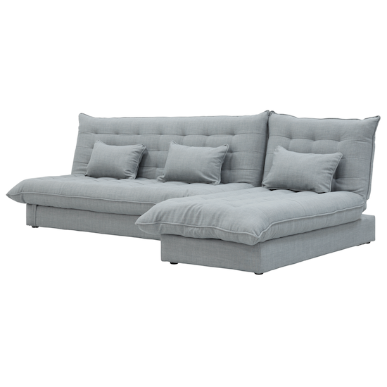 Sofa Beds - MLM - Tessa 3 Seater Storage Sofa Bed - Silver