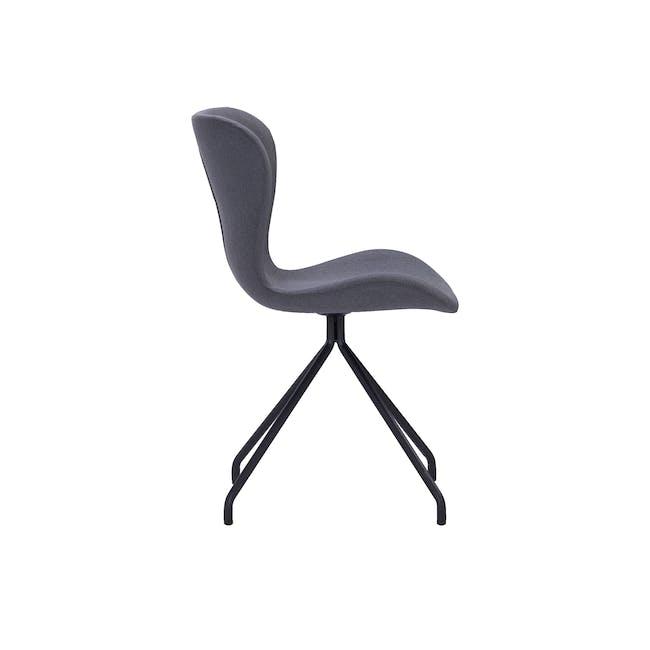 Gryta Dining Chair - Matt Black, Grey - 1