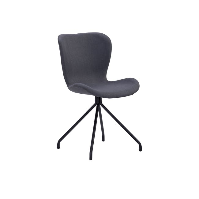 Gryta Dining Chair - Matt Black, Grey - 0