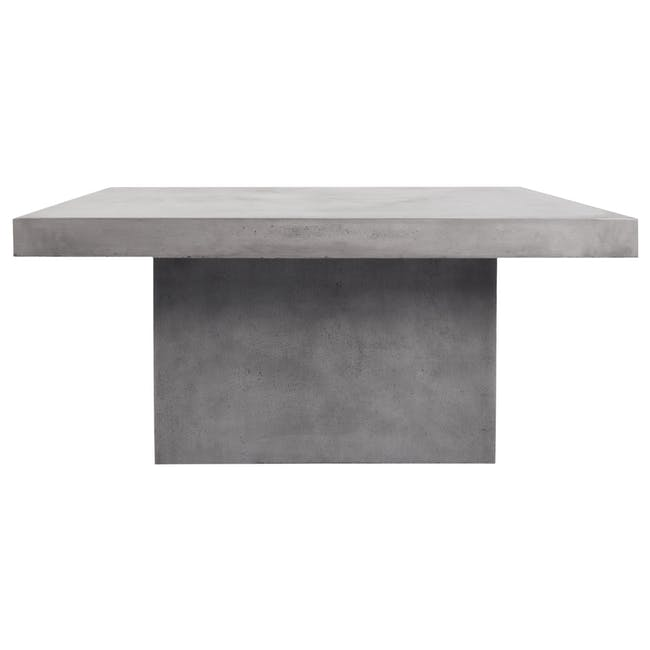 Ryland Concrete Dining Table 1.6m with 4 Edson Dining Armchairs in Titanium and Mocha Faux Leather - 2