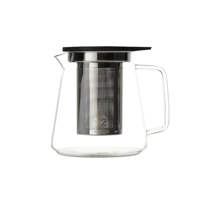 T2 Teaset Glass Teapot - Black (2 Sizes) - 1