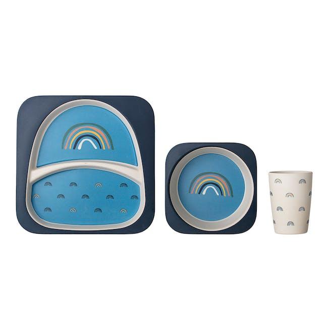 Rainbow Kids Tableware Set - Blue (3pc Set) - 0