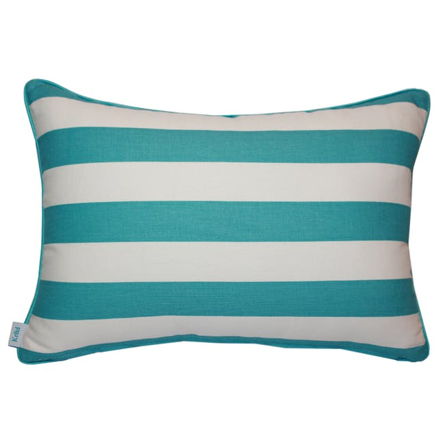 Coral Rectangle Cushion - Aqua - 1