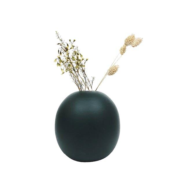 Nordic Matte Vase Large Sphere - Matte Black - 0