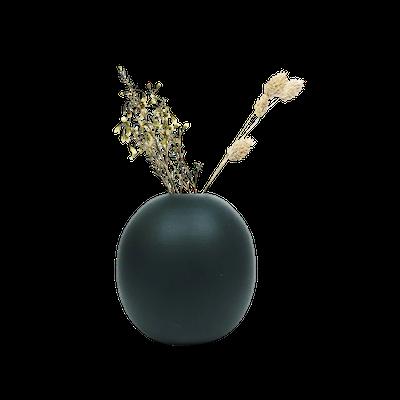 Nordic Matte Vase Large Sphere - Matte Black - Image 1