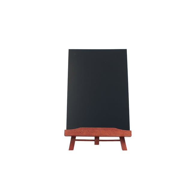 Securit Junior Rubber Wood Table Chalkboard with Easel Stand - 0