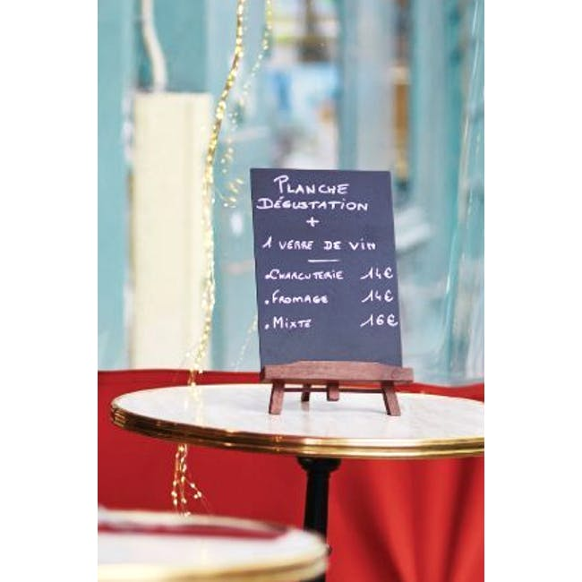 Securit Junior Rubber Wood Table Chalkboard with Easel Stand - 1