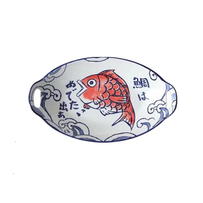 Table Matters Red Tai Oval Baking Dish With Handles - 0