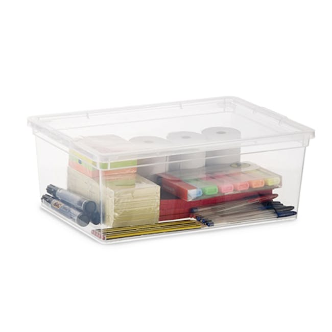 C Box Transparent with Lid - S - 1