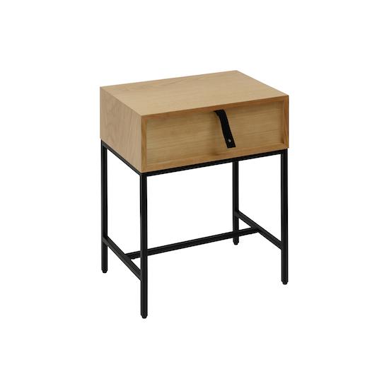 Vietnam Housewares - Nixon Bedside Table - Black, Oak
