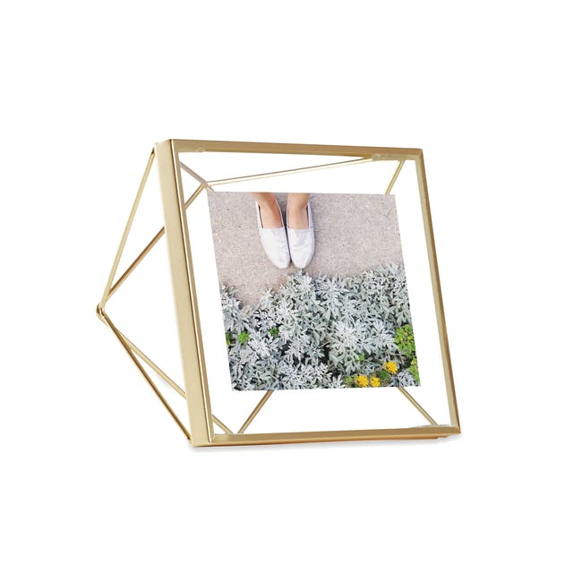 Prisma Square Photo Display - Brass - 0