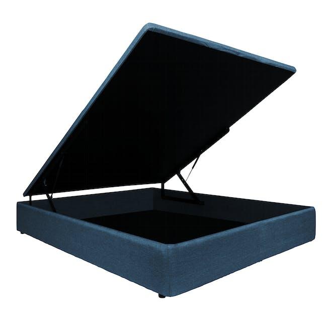 ESSENTIALS King Storage Bed - Denim (Fabric) - 1