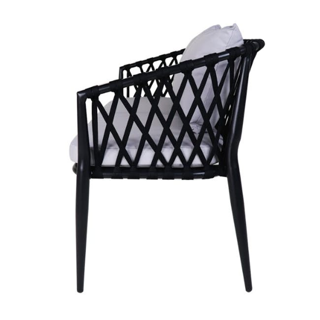 Orgo Patio Armchair Set, Grey Cushion - 2