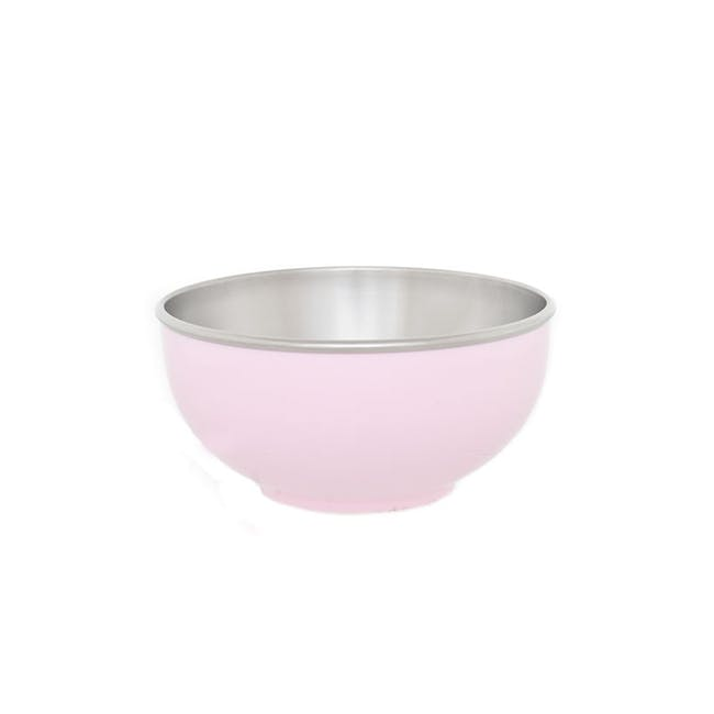 Zebra Stainless Steel Colour Bowl - Pink (2 Sizes) - 1