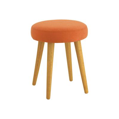 Oprah Stool - Natural, Tangerine - Image 1
