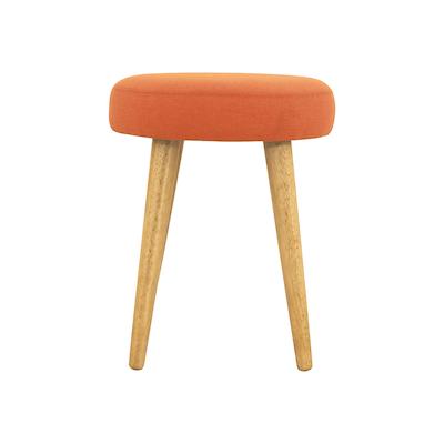 Oprah Stool - Natural, Tangerine - Image 2