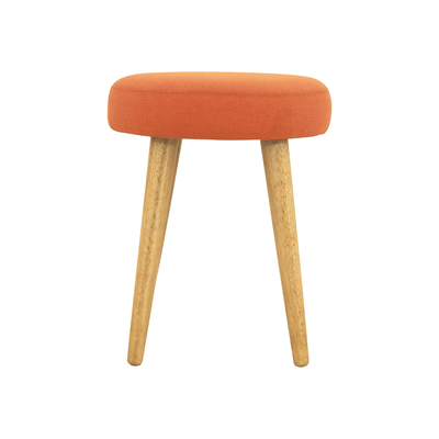 Oprah Stool - Natural, Tangerine
