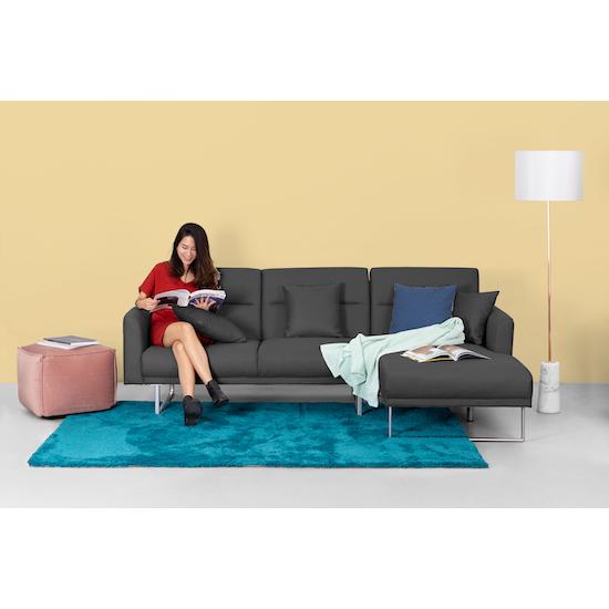 Stan L-Shaped Sofa Bed - Granite, Sofa beds by HipVan | HipVan on