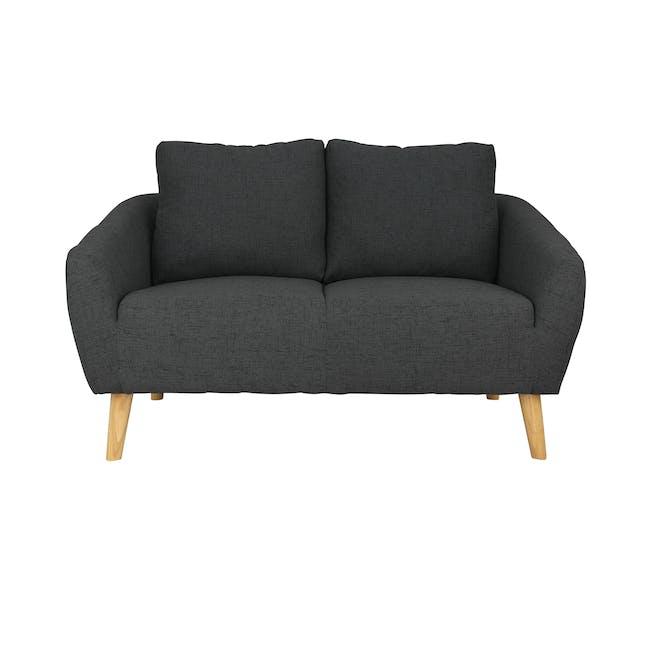 Hana 2 Seater Sofa with Hana Armchair - Charcoal - 11