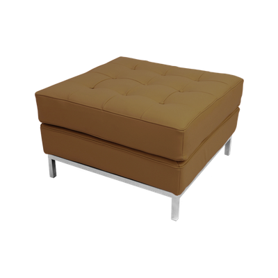 Florence Knoll Ottoman - Italian Leather - Image 1