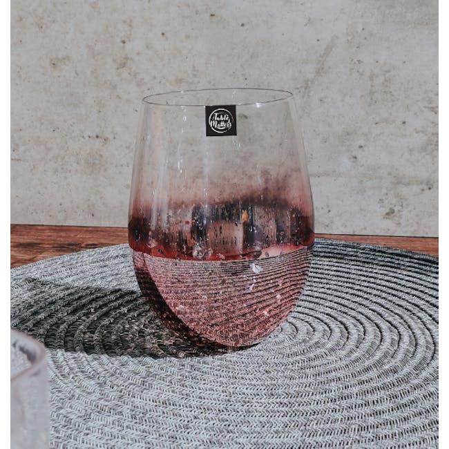 Table Matters Taikyu Luster Glass 530ml - Pink - 2