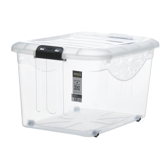Houze - 60L Motif Storage Box with Wheels