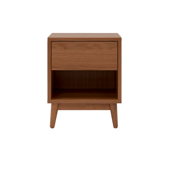 Audrey Queen Storage Bed in Seal Grey with 2 Kyoto Top Drawer Bedside Tables in Walnut - 6