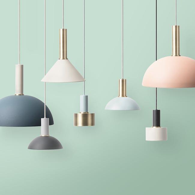 Chloe Pendant Lamp - Brass, Light Grey - 1