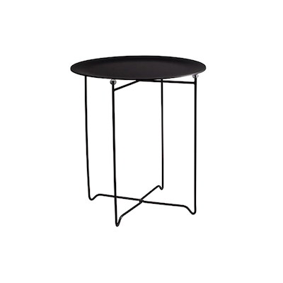 Xever Occasional Table - Black, Matt Black