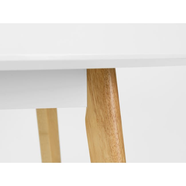 (As-is) Harold Round Dining Table 1m - Natural, White - 24 - 12